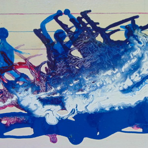 Frank Etienne Abstract drip Painting