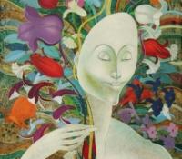 Visage et Fleurs